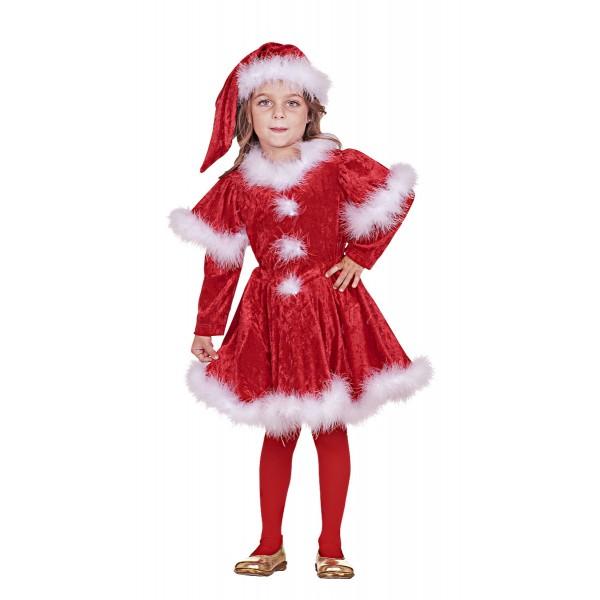 Στολή Άγιος Βασίλης κορίτσι N 7743 ΣΤΟΛΕΣ ΧΡΙΣΤΟΥΓΕΝΝΙΑΤΙΚΕΣ ΠΑΙΔΙΚΕΣ