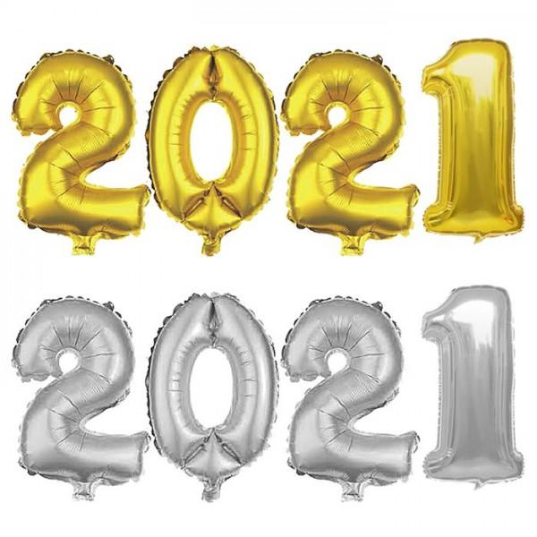 ΜΠΑΛΟΝΙ ΧΡΟΝΟΛΟΓΙΑ ΜΕΤΑΛΛΙΖΕ 2021 Υ:81cm Μπαλόνια