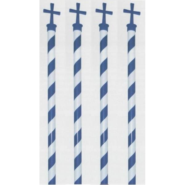 ΚΟΝΤΑΡΙ ΣΗΜΑΙΑΣ ΜΕ ΣΤΑΥΡΟ  ( 2,20cm ) Σημαίες Ελληνικές