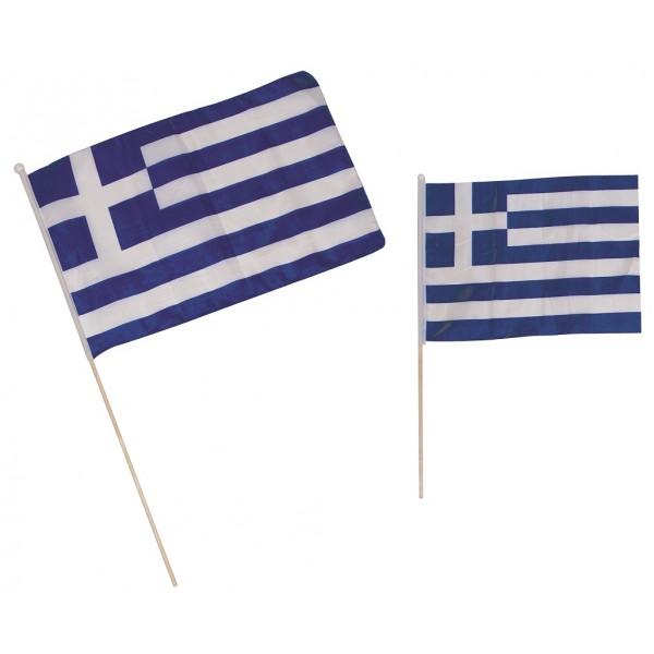 ΣΗΜΑΙΑ ΠΑΝΙΝΗ ΜΕ ΞΥΛΙΝΟ ΚΟΝΤΑΡΙ ( 40Χ30εκ ) Ν3 Σημαίες Ελληνικές