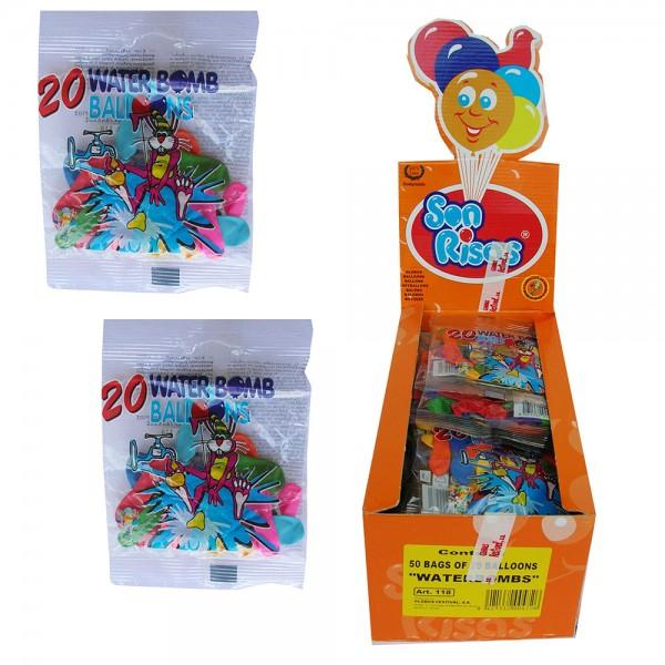 ΝΕΡΟΜΠΟΜΠΕΣ ΦΑΚΕΛΑΚΙ  20 ΤΕΜ   Ν 118 Μπαλόνια
