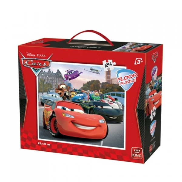DISNEY FLOOR PUZZLE 24 pcs CARS 2  Disney Floor Puzzles 24 pcs