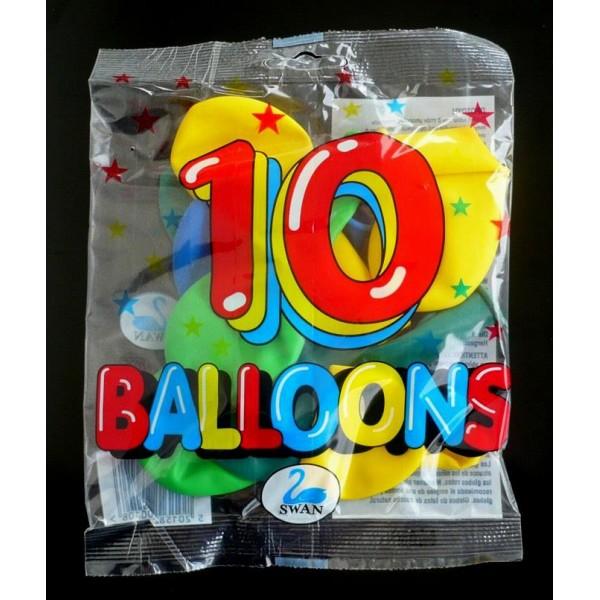 10 ΜΠΑΛΟΝΙΑ ΑΣΤΕΡΑΚΙ 6αρι Ν 200108 Μπαλόνια