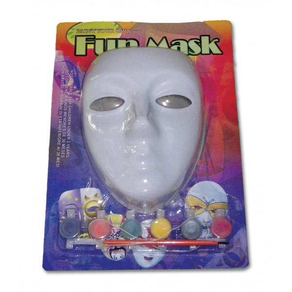 ΜΑΣΚΑ ΛΕΥΚΗ ΜΕ ΜΠΟΓΙΕΣ N 93297 Αποκριάτικες Μάσκες Πλαστικές Απλές