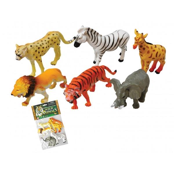 Σετ άγρια ζώα 6 τεμ. 15x23εκ. Ν 2603 Ζωάκια