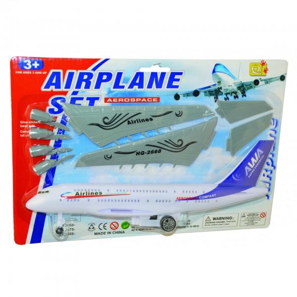 Αεροπλανάκι Φρίξιον σε καρτέλα 31x21εκ. Ν 2668-2 Αυτοκούρδιστα (Τριβής-Friction)