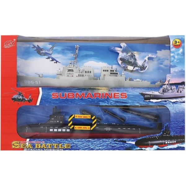 Πολεμικό ναυτικό με φρεγάτα & υποβρύχιο 55x35εκ. Ν 42386 Στρατιωτάκια