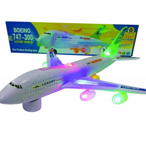 Αεροπλάνο μπαταρίας Boeing 747 με φώτα και ήχο 37x10εκ. Ν 747-300 Παιχνίδια Μπαταρίας