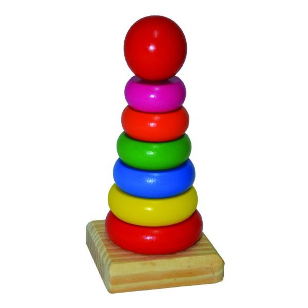 Ξύλινος πύργος 10x25εκ.Ν LS-8026 Δημιουργικά & Εκπαιδευτικά Παιχνίδια