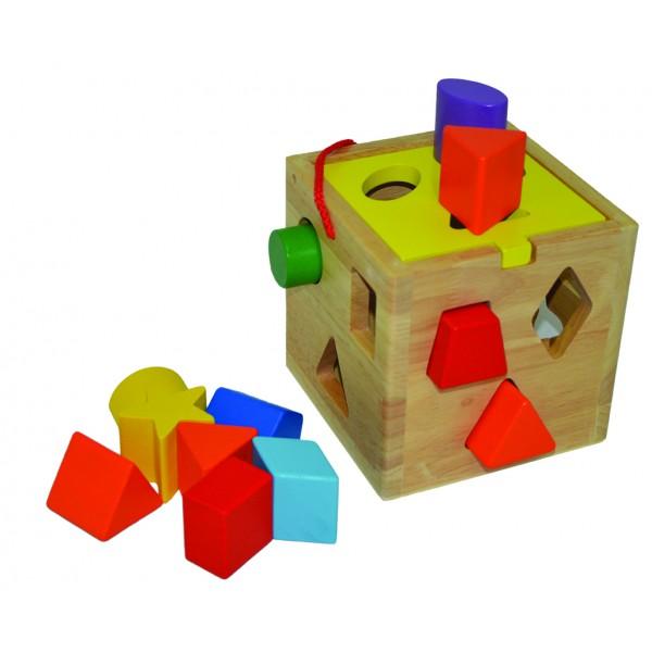 """Ξύλινο """"shape shorter"""" 25x30εκ. N LS-8046 Δημιουργικά & Εκπαιδευτικά Παιχνίδια"""