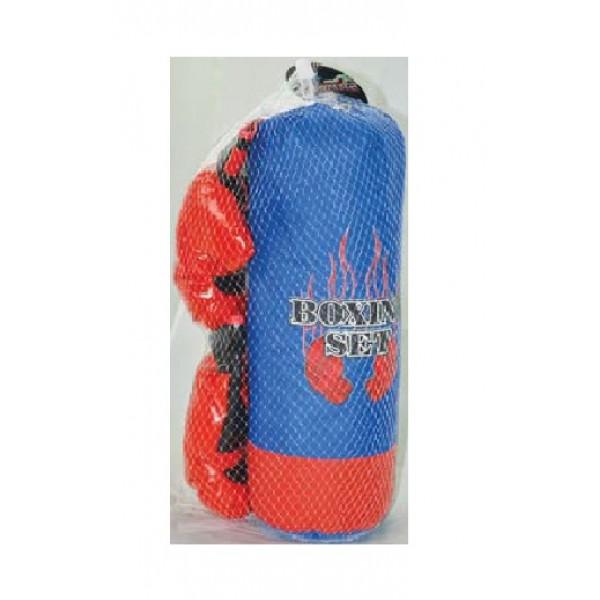 Σάκος του μπόξ με γάντια 20x15x43εκ. Ν 9508 Μπόξ